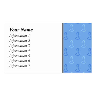Chess Pattern in Blue. Double-Sided Standard Business Cards (Pack Of 100)