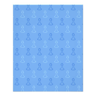 Chess Pattern in Blue. Personalized Flyer