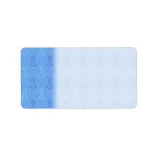 Chess Pattern in Blue. Label
