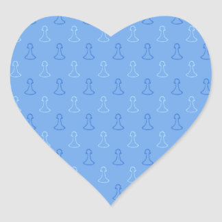 Chess Pattern in Blue. Stickers