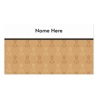 Chess Pattern in Brown. Double-Sided Standard Business Cards (Pack Of 100)