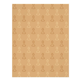 Chess Pattern in Brown. Flyer Design