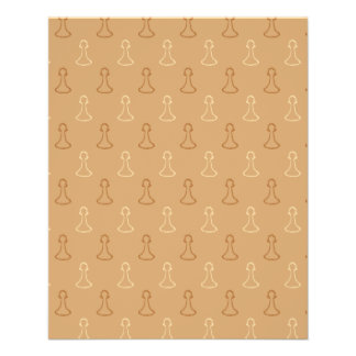 Chess Pattern in Brown. Flyer