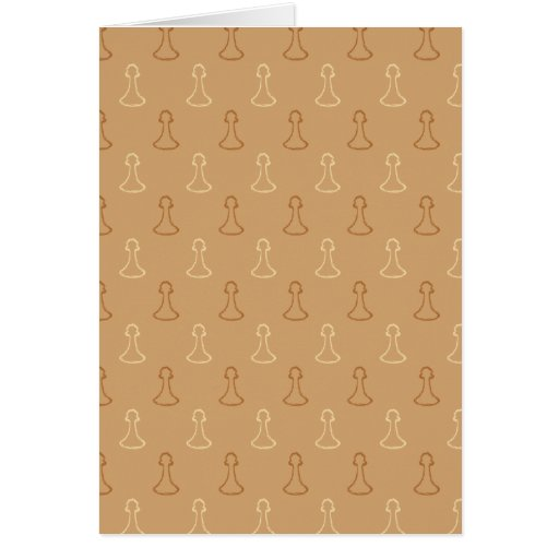 Chess Pattern in Brown. Greeting Card