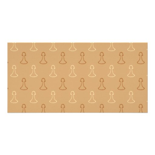 Chess Pattern in Brown. Customized Photo Card