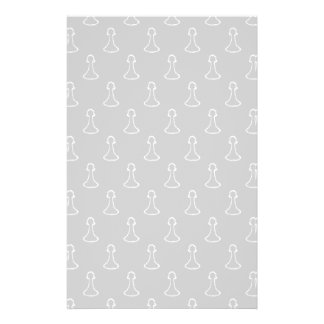 Chess Pattern in White and Light Gray. Personalized Flyer