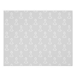 Chess Pattern in White and Light Gray. Flyer