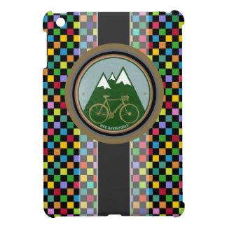chess pattern , mountain and bike iPad mini cover