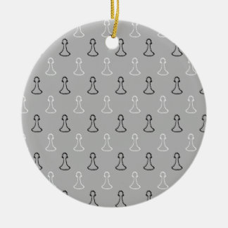 Chess Pattern. Christmas Tree Ornament