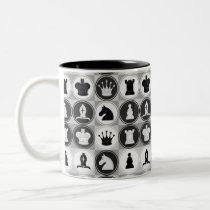 Chess Pattern Two-Tone Coffee Mug