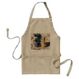 Chess Pawn and Knight - Veterans Adult Apron