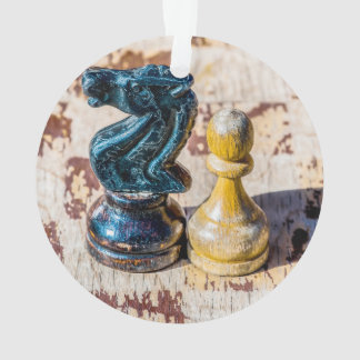 Chess Pawn and Knight - Veterans Ornament