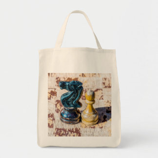 Chess Pawn and Knight - Veterans Tote Bag