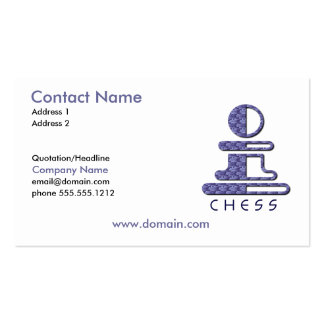 Chess Pawn Business Card