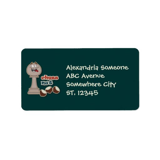 Chess Pawn, Chess Nuts and Chestnuts Personalized Address Label