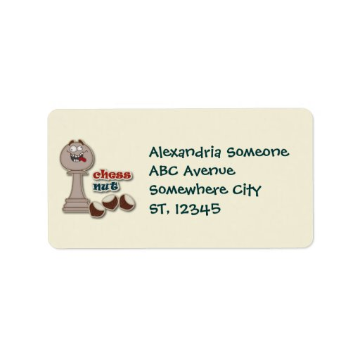 Chess Pawn, Chess Nuts and Chestnuts Personalized Address Labels