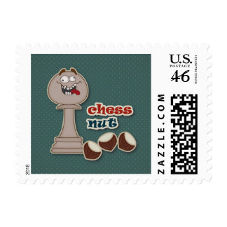 Chess Pawn Chess Nuts and Chestnuts Postage Stamps