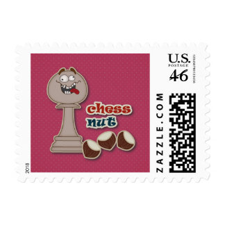 Chess Pawn Chess Nuts and Chestnuts Stamps