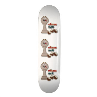 Chess Pawn, Chess Nuts and Chestnuts Custom Skate Board