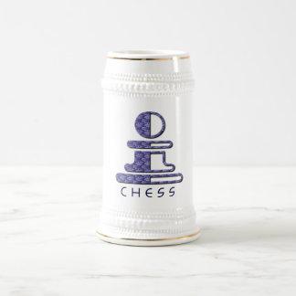 Chess Pawn Design Beer Mug