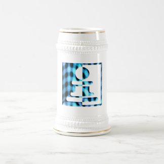 Chess Pawn Design Beer Stein 18 Oz Beer Stein