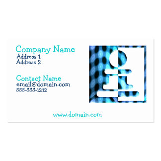 Chess Pawn Design Business Card