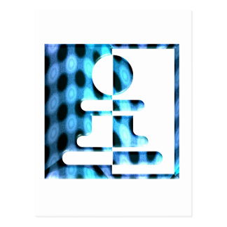 Chess Pawn Design Postcard