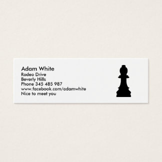 Chess pawn mini business card