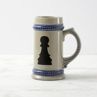 Chess pawn 18 oz beer stein