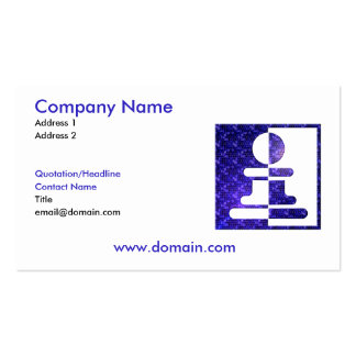 Chess Pawn Reflections Business Card
