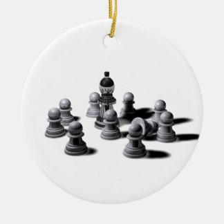 Chess Pawns Ceramic Ornament