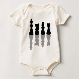 Chess peices reflection baby bodysuit
