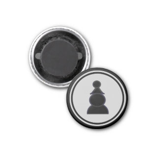 Chess Piece Black Pawn Refrigerator Magnet