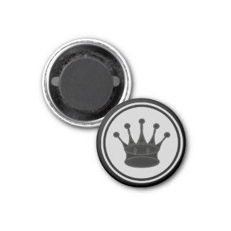Chess Piece Black Queen 1 Inch Round Magnet