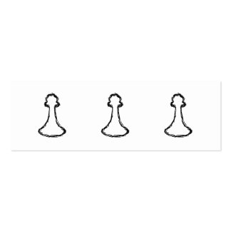 Chess Piece. Black Sketch. Double-Sided Mini Business Cards (Pack Of 20)
