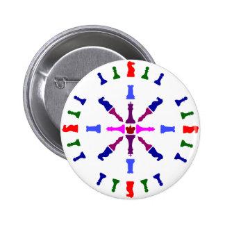 Chess Piece Design Pinback Button