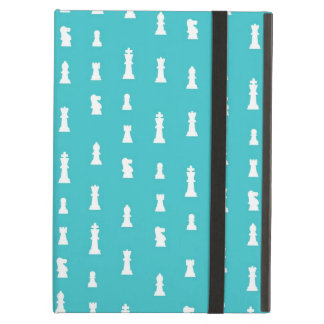 Chess piece pattern - teal blue iPad covers
