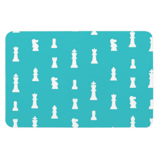 Chess piece pattern - teal blue magnets