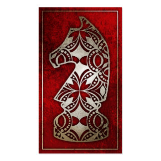 Chess Piece - Red Knight Business Cards
