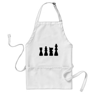 Chess piece silhouette design apron