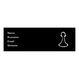 Chess Piece. White. Double-Sided Mini Business Cards (Pack Of 20)