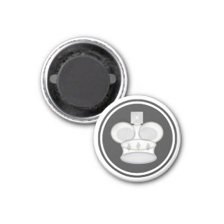 Chess Piece White King Magnet