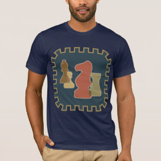 Chess Pieces Blue Dark Tshirt