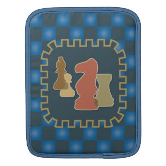 Chess Pieces Blue iPad Sleeve