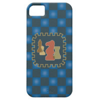 Chess Pieces Blue iPhone 5 Case