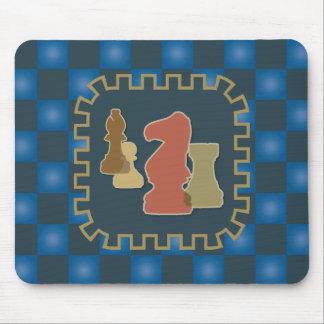 Chess Pieces Blue Mousepad