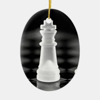 Chess pieces ceramic ornament