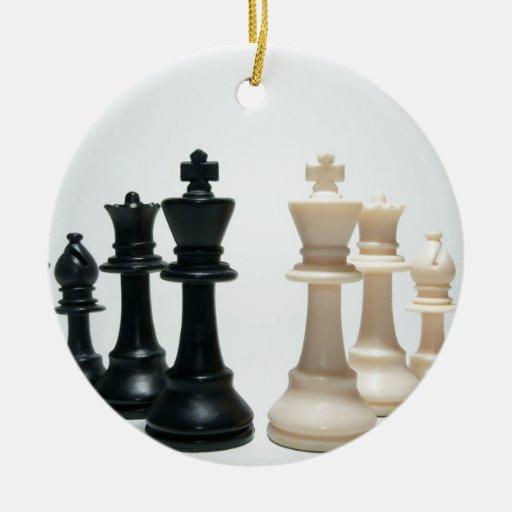 Chess pieces ceramic ornament zazzle - Ceramic chess sets for sale ...