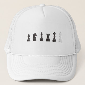 chess pieces - chess parts trucker hat