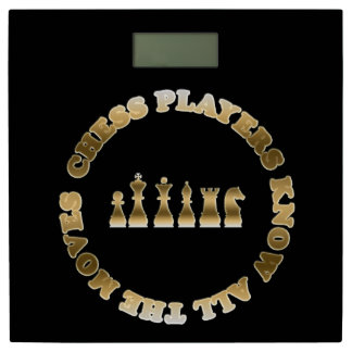 Chess Pieces Chess Players Know All the Moves Bathroom Scale